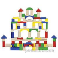 Конструктор деревянный goki Строительные блоки (цветные) 58669