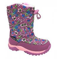 Зимние термо сапоги для девочек.ТМ B&G Размеры 25 26