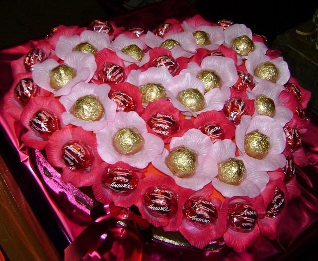 Сердце из конфет «Большая любовь» (45 бутонов)