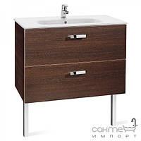 Мебель для ванных комнат и зеркала Roca Тумба с раковиной Roca Victoria Basic 80 венге A855852201