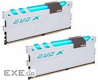 DDR-4 16GB KIT(2*8GB) PC4-19200 (PC4-2400) EVO X White H CL16 Geil Original (GEXG416GB2400C16DC)