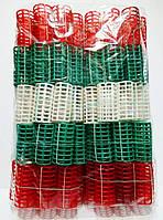 Бигуди пластмассовые с резинкой 100шт.,(65мм/30мм)