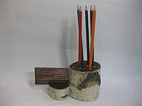 Карандашница и подставка для визиток из дерева