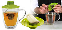 Силиконовая крышка с отжимом Tea Bag Buddy, фото 1