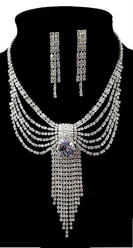 Колье фирмы Xuping. Цвет серебряный. Камни: белый циркон. Длина: 35-44 см Ширина: 110 мм.