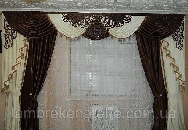 Ламбрекен трехметровый со шторами