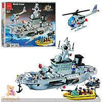 Конструктор военный корабль Brick 821