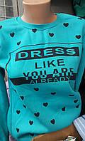Подростковый реглан теплый для девочек 152,158,164,170,176 роста Dress