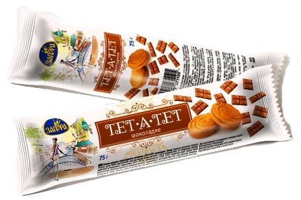 """Печенье """"Тет-а-Тет""""  шоколад 75 г"""