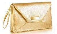 Сумочка-клатч Today, Avon, конверт, золотистая с ручкой, 20187