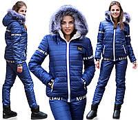 Хороший костюм зимний теплый на синтепоне для прогулки с ребенком