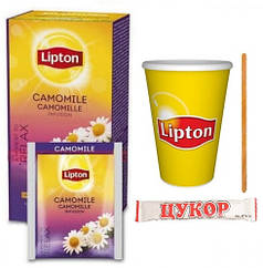 Чай Lipton Camomile (ромашка) 25ф/п  (1мешалка+1сахар+1конверт+1стакан)