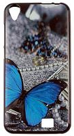 Чехол, бампер с принтом бабочки для HOMTOM HT16