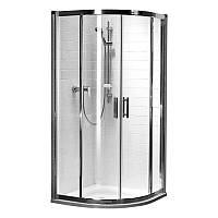 Кабина полукруглая Kolo GEO 6 90*90 см (1/2 и 2/2) двери раздвижные стекло PRISMATIC