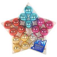 Елочные шарики 6 см 20 шт/звезда (GN703)