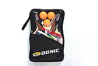 Ракетка для настольного тенниса DNC WALDNER LINE, древесина, резина, 2 ракетки в чехле (33932), фото 1