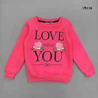 "Теплая кофта ""LOVE"" для девочки.  4 года, фото 1"