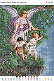 """Схема для вышивания бисером или крестиком икона """"Ангел Хранитель"""""""