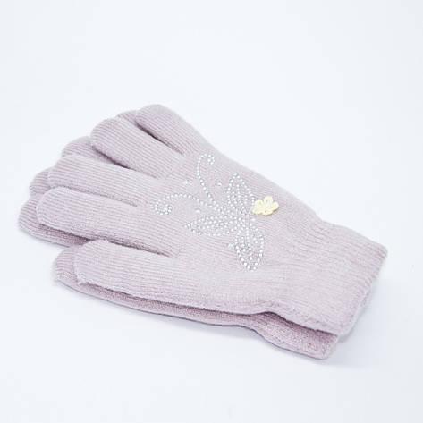 Перчатки женские двойные норма 7-8, фото 2