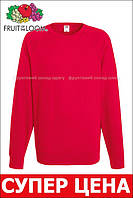 Мужской лёгкий реглан Красный Fruit Of The Loom 62-138-40 S