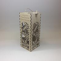 Подарочная коробка для шампанского. Размер 10,5х10,5х26 см.