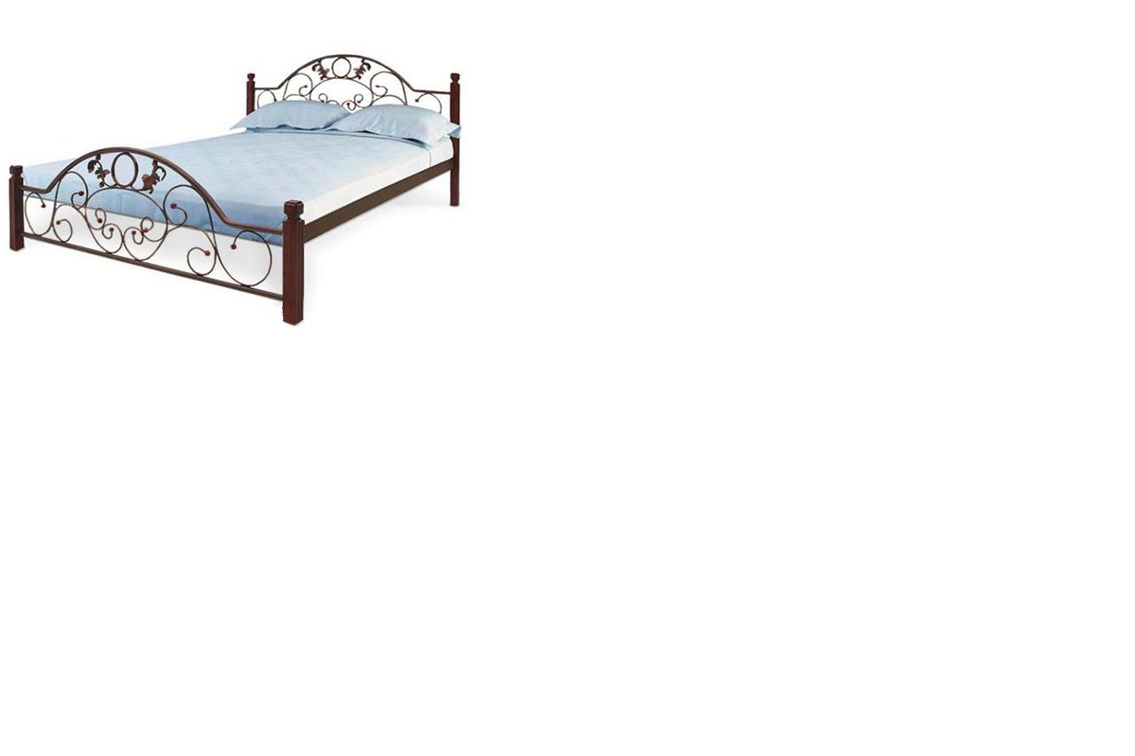 Кровать  «Франческа деревянные ножки» Metal Design - Интернет-магазин мебели,матрасов,товаров для детей и игрушек в Ирпене