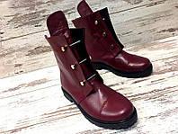 Ботинки женские на низком ходу  с болтами