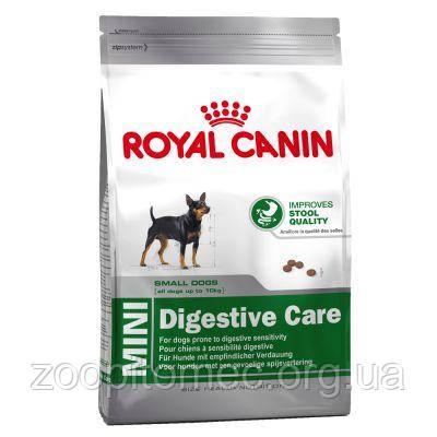 Сухой корм Royal Canin (Роял Канин) MINI DIGESTIVE CARE для собак мелких пород с чувствительным пищеварением,