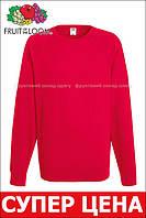 Мужской лёгкий реглан Красный Fruit Of The Loom 62-138-40 L