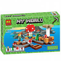 """Конструктор Minecraft """"Грибной остров"""", 253 дет."""