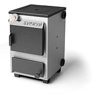 Котёл Буржуй КП-12 кВт с чугунной плитой (выход дымохода приобретается отдельно)