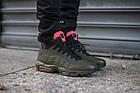 Мужские высокие кроссовки Nike Air Max 95 Sneakerboot (в стиле Найк Аир Макс 95 Сникербут) хаки, фото 2