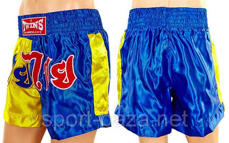 "Шорты для тайского бокса ""BLUE-YELLOW"" размер XL"