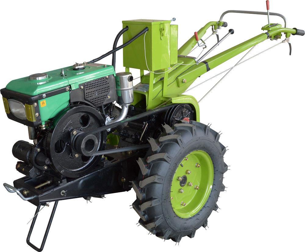 Мотоблок Фермер 10Е (дизель, 10 л.с., электростартер, водяное охлаждение, к-т фреза+плуг)