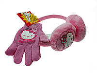 Наушники+перчатки на девочку с HELLO KITTY