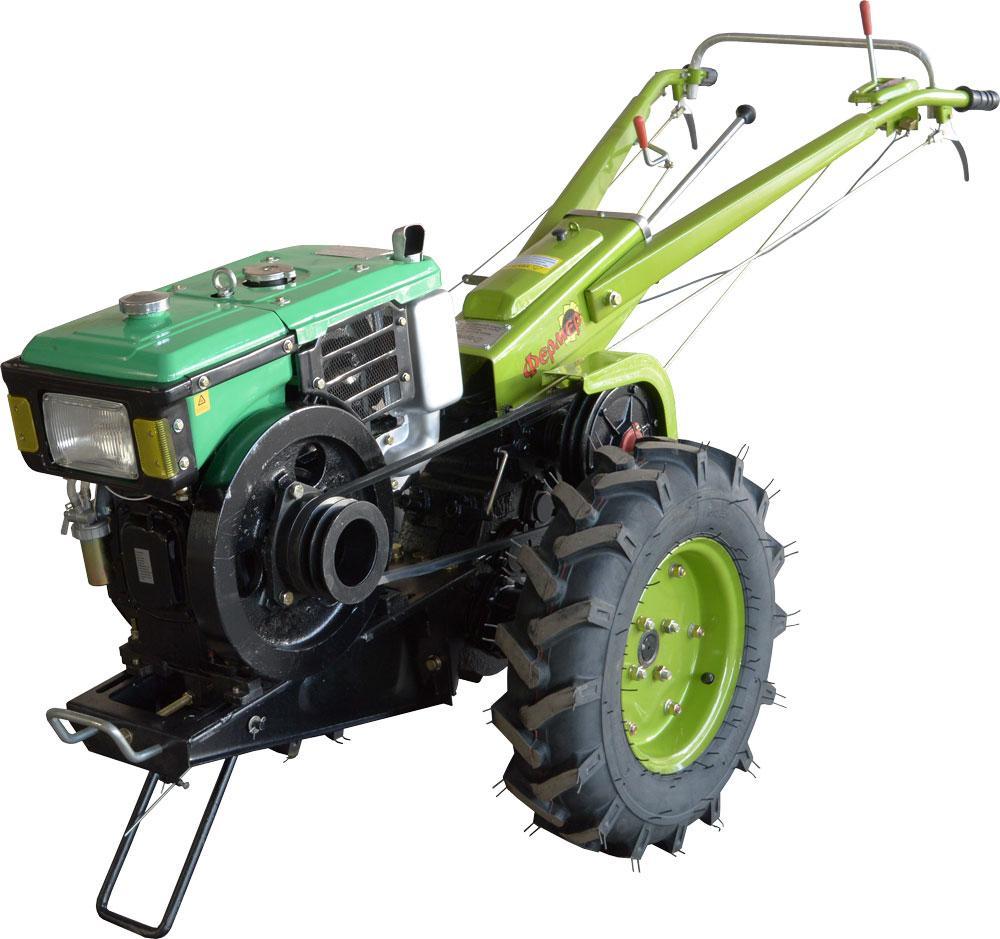 Мотоблок Фермер 8 (дизель, 8 л.с., водяное охлаждение, комплект фреза+плуг)