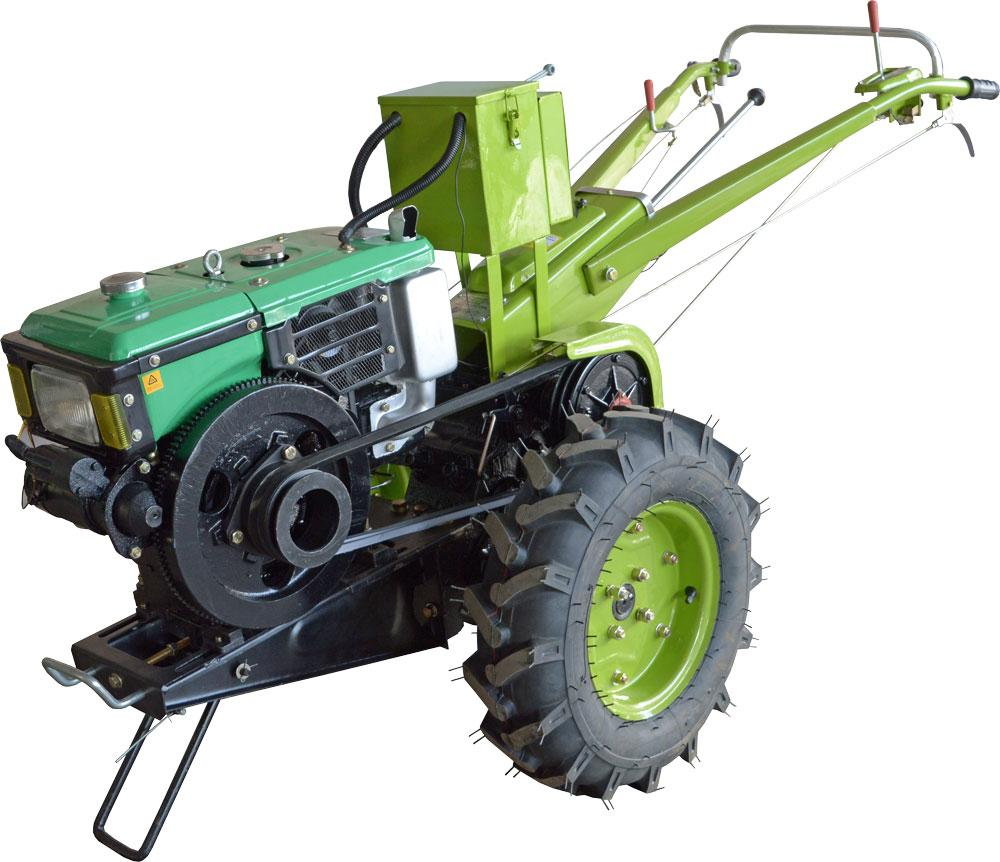 Мотоблок Фермер 8Е (дизель, 8 л.с., электростартер, водяное охл., комплект фреза+плуг)