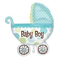 Шарик фольгированный Коляска Baby Boy 75 см