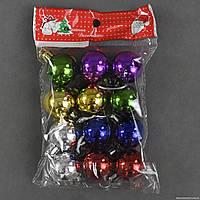 """Новогодняя игрушка""""Шарики"""" 12шт в упаковке, d=3см, 3 цвета"""