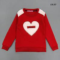 """Теплая кофта """"Сердце"""" для девочки. 7-8 лет, фото 1"""