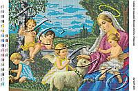 """Схема для вышивки бисером или крестиком """"Ангелы и Мадонна"""""""