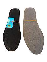 Стельки для обуви кожаные на картоне, р.45