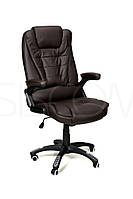 Кресло офисное Milano коричневое эко-кожа  регулировка спинки
