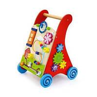 Деревянные ходунки-каталка с игровым центром 50950 Viga Toys