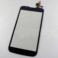Тачскрин (сенсор) для LG P715 Optimus L7 II Dual Sim, цвет черный