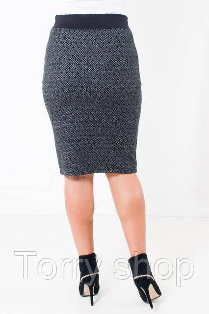 84ef73dfcff Теплая трикотажная юбка карандаш черно-белая  продажа