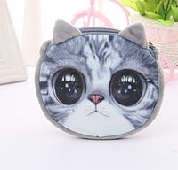 Детская сумка серый котик 3D принт, плюш-велюр
