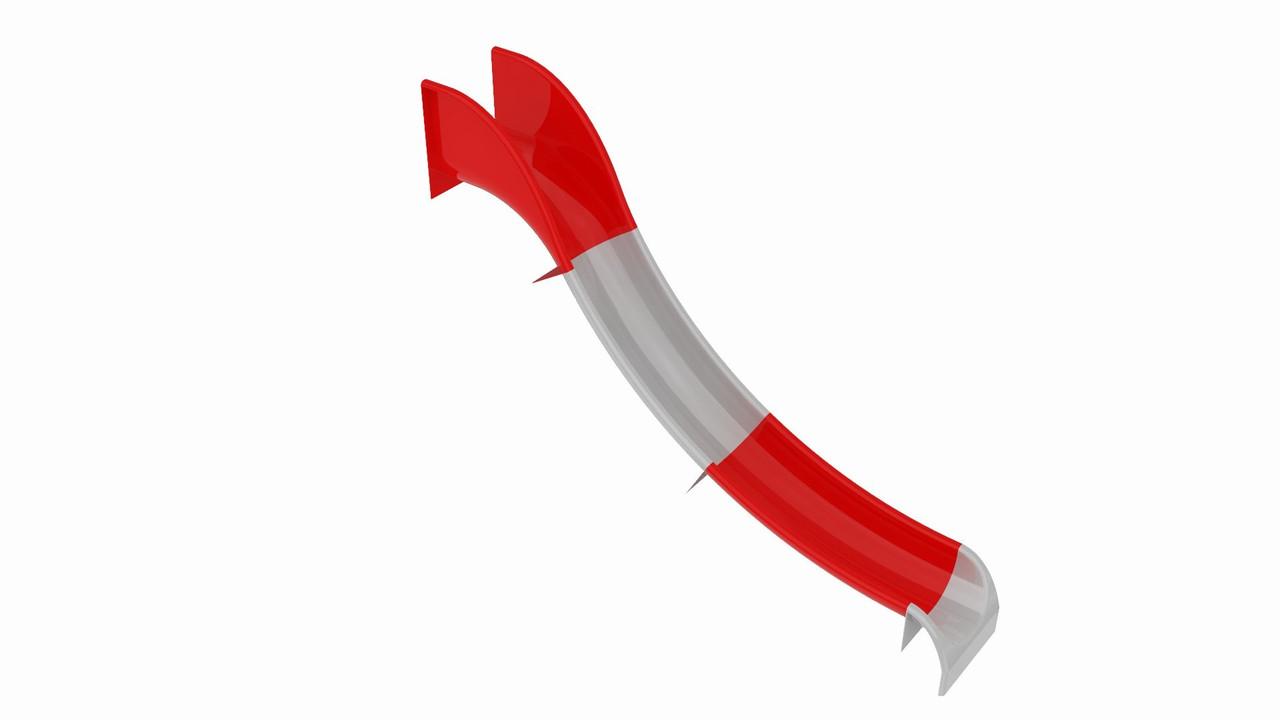 Скат стеклопластиковый - длина спуска 6 метров (1А1015)
