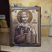 Икона Христа Спасителя Иисуса покрытая 999 серебра л2