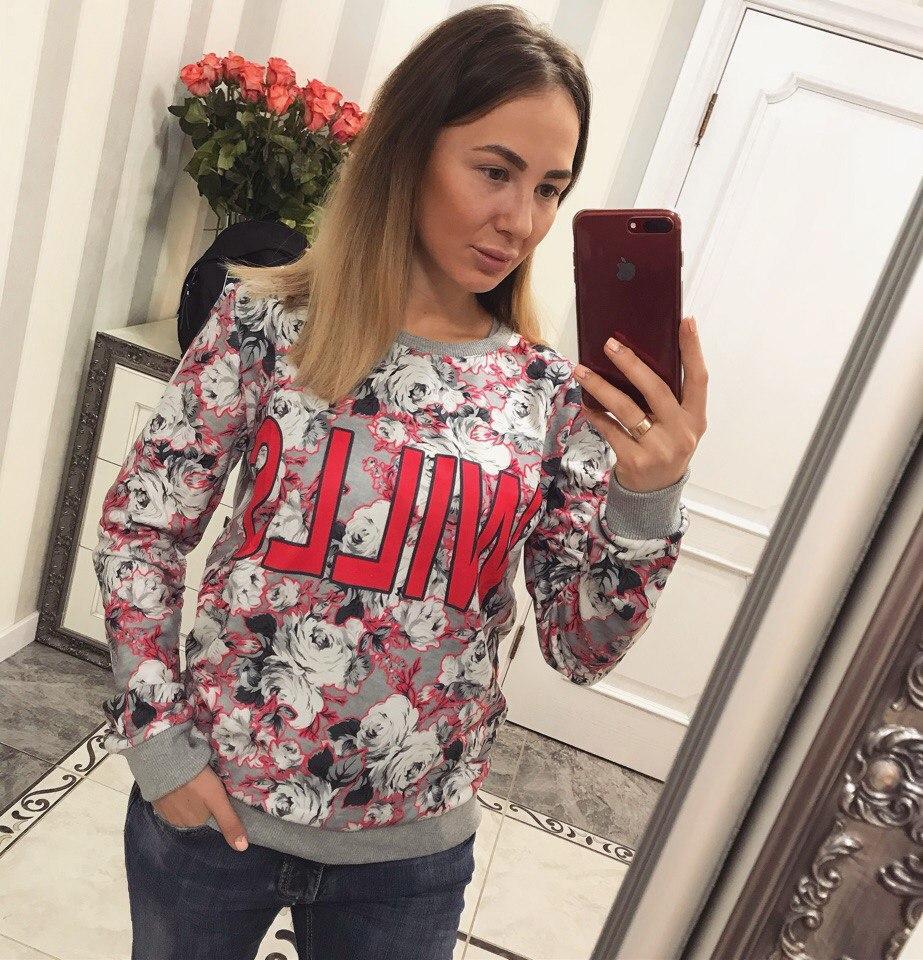 ed1833e3371 Теплый свитшот женский (арт. 226329785) - Aleksa - интернет-магазин женской  одежды
